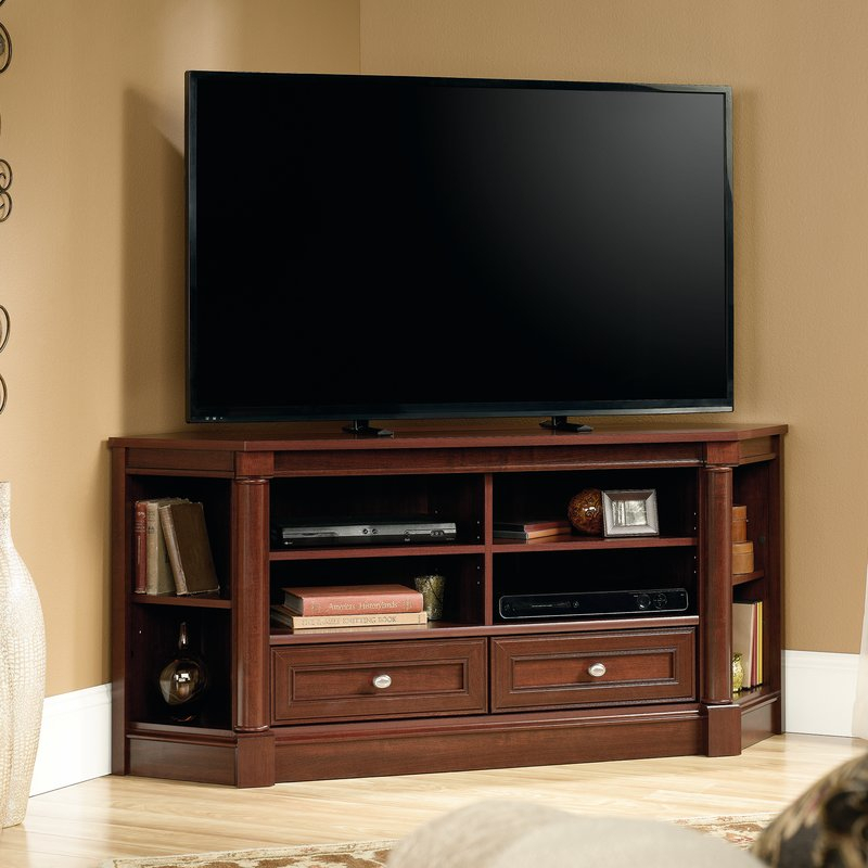 "Three Posts Orviston Corner Tv Stand For Tvs Up To 60"" & Reviews Pertaining To 2018 Maddy 50 Inch Tv Stands (Image 20 of 25)"