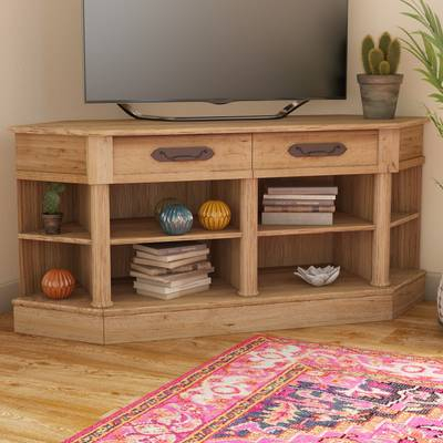"""Three Posts Orviston Corner Tv Stand For Tvs Up To 60"""" & Reviews Throughout Current Maddy 50 Inch Tv Stands (Image 21 of 25)"""