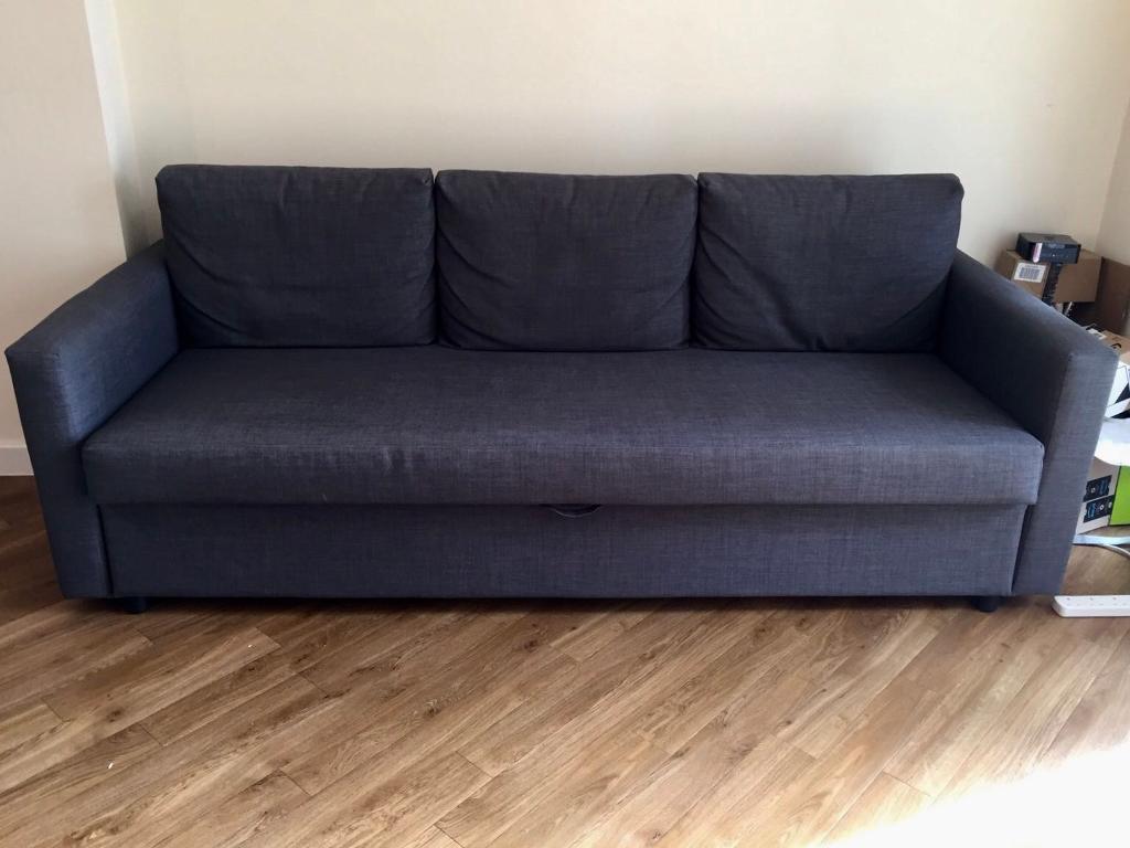 Three Seat Sofa Bed Skiftebo Dark Grey | In Kilburn, London | Gumtree Within London Dark Grey Sofa Chairs (Image 22 of 25)