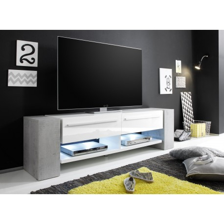 Time – White Tv Stand With Stone Imitation Legs – Tv Stands (1591 With 2017 Cheap White Tv Stands (Image 19 of 25)