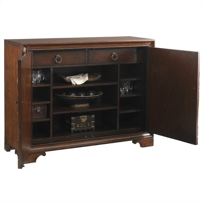 Tommy Bahama Home Landara Balboa Carved Door Accent Chest In Rich Intended For Famous Balboa Carved Console Tables (Image 23 of 25)