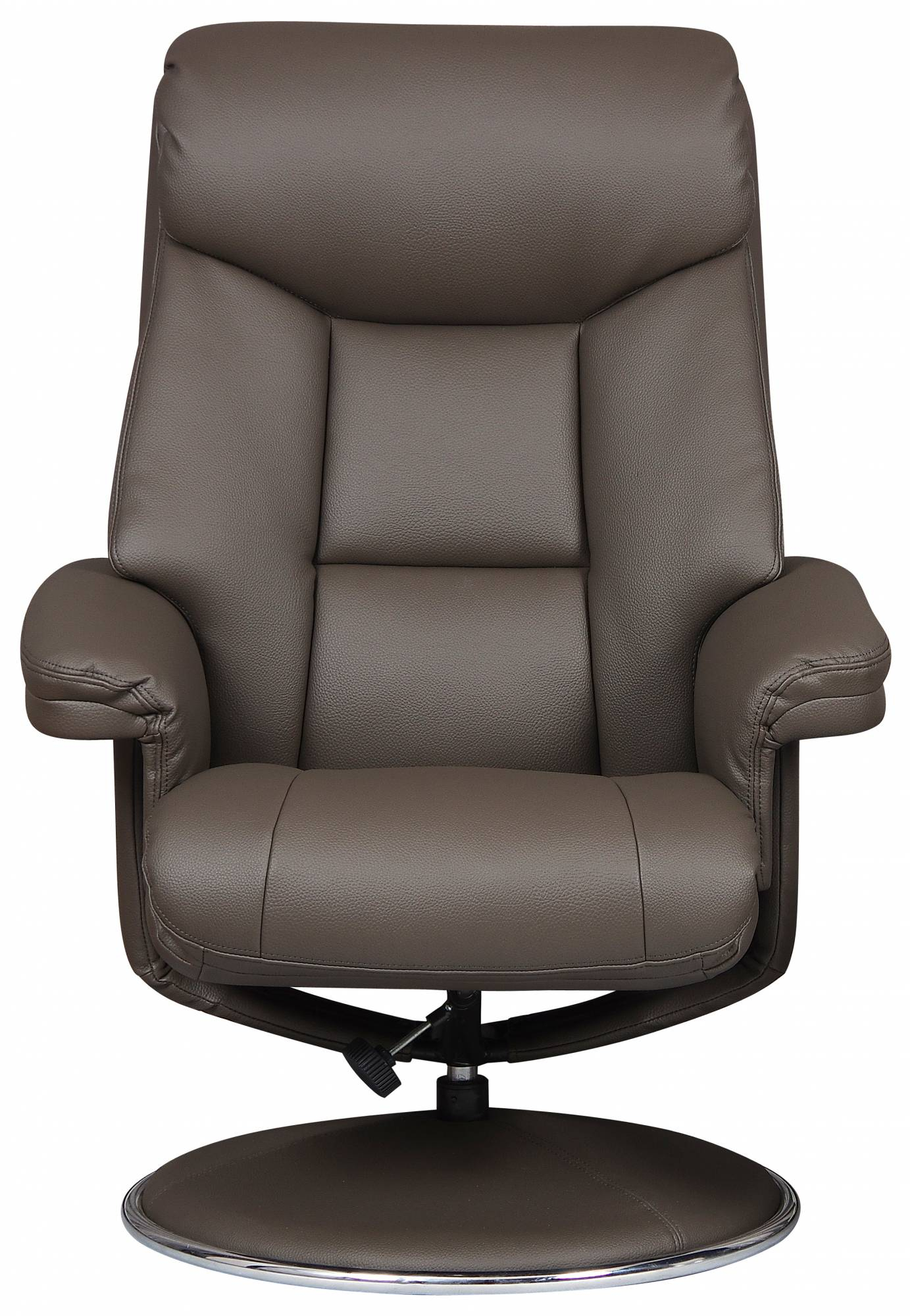 Toulouse – Swivel Recliner Chair & Footstool Charcoal Faux Leather Within Charcoal Swivel Chairs (View 21 of 25)