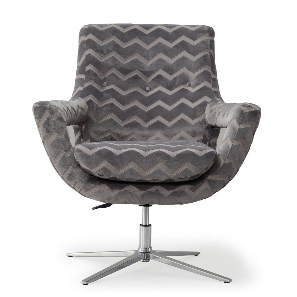 Tov Furniture Fifi Grey Swivel Chair Tov S6118 – The Home Depot In Grey Swivel Chairs (View 17 of 25)