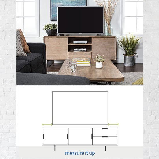 Trendy Annabelle Blue 70 Inch Tv Stands Throughout Tv Stand Size Guide: Read This Before Buying (View 10 of 25)