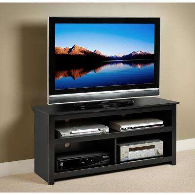 Trendy Black Corner Tv Stands For Tvs Up To 60 In Prepac – Tv Stands – Living Room Furniture – The Home Depot (Image 22 of 25)