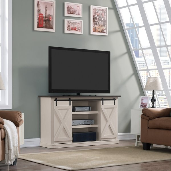 Trendy Canyon 64 Inch Tv Stands Within Shop Cottonwood Two Tone Tv Stand For Tvs Up To 60 Inches, Old Wood (View 8 of 25)