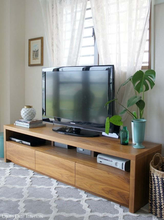 Trendy Century Blue 60 Inch Tv Stands Intended For Easy Tips For Tv Stand Decor And Styling (Image 17 of 25)