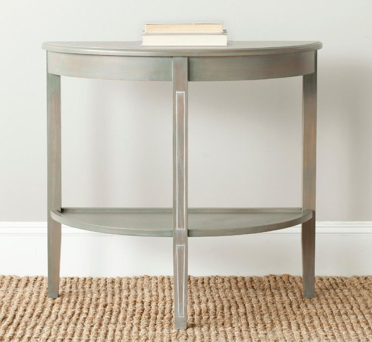 Trendy Clairemont Demilune Console Tables Inside American Home Amos Console, Dark Teal, Sofa Tables (Image 21 of 25)