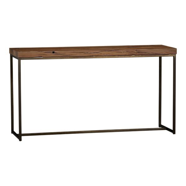 Trendy Clairemont Demilune Console Tables Intended For Alluring Yukon Console Table With Bluestone Console Table Crate (View 17 of 25)