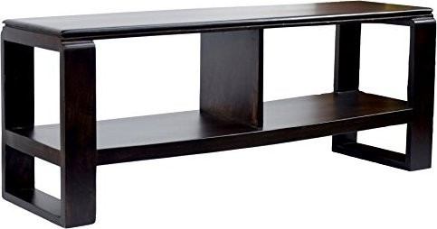 Trendy Daintree Tv Stands Throughout Timbertaste Daintree Tv Unit Cabinet Lacquer Finish, Dark Walnut (View 4 of 7)