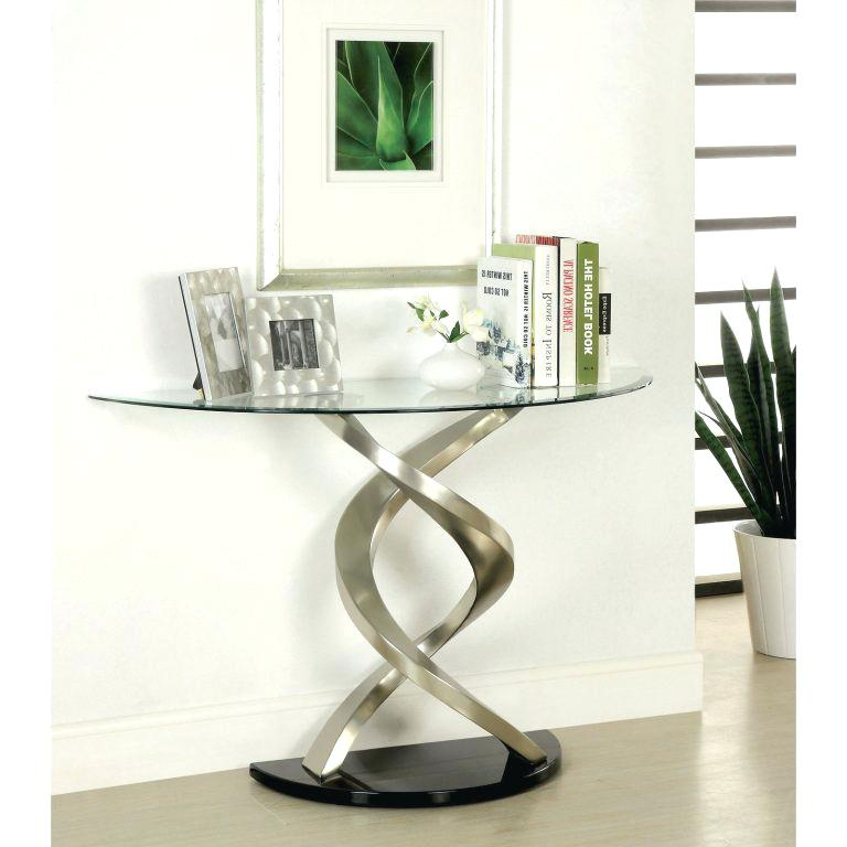 Trendy Era Glass Console Tables With Regard To Console Entry Table Home And Furniture Romantic Glass Entryway Table (View 8 of 25)