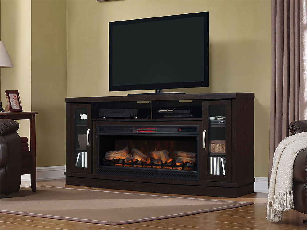 Trendy Kilian Grey 60 Inch Tv Stands In Electric Fireplace Tv Stands (Image 7 of 12)