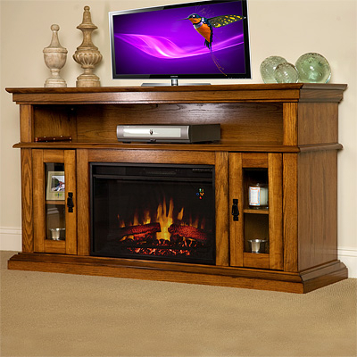 Trendy Kilian Grey 60 Inch Tv Stands Inside Electric Fireplace Entertainment Center (Image 8 of 12)
