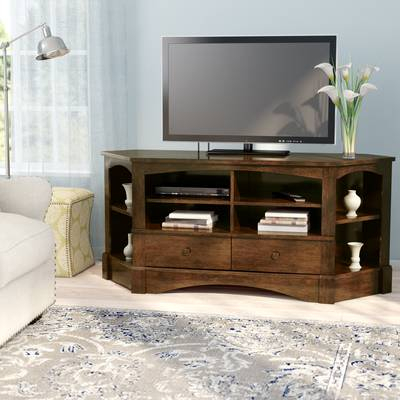 "Trendy Maddy 70 Inch Tv Stands Inside Three Posts Orviston Corner Tv Stand For Tvs Up To 60"" & Reviews (View 4 of 25)"