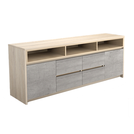 Trendy Natural 2 Door Plasma Console Tables Pertaining To V (View 16 of 25)