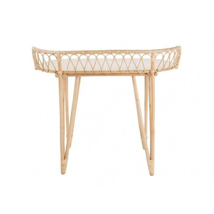 Trendy Natural Cane Media Console Tables For Loop Rattan Console Table, Natural (View 8 of 25)