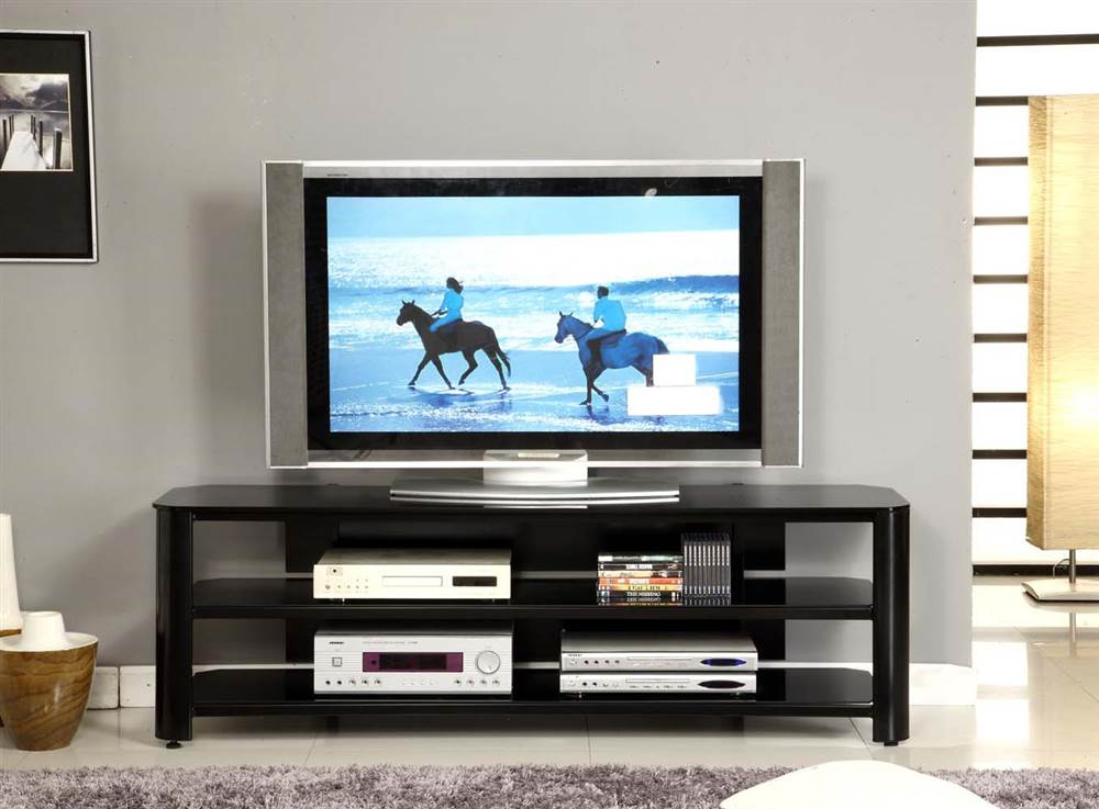 """Trendy Oxford 84 Inch Tv Stands Throughout Innovex Oxford Black Tv Stand For Tvs Up To 65"""" – Walmart (View 18 of 25)"""