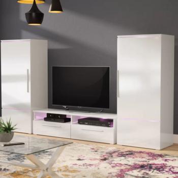 Trendy Stil Tv Stands With 2018 Yeni Stil Yüksek Cam Tv Stand Dolabı Duvar Ünitesi Ile Led Işık (View 10 of 25)