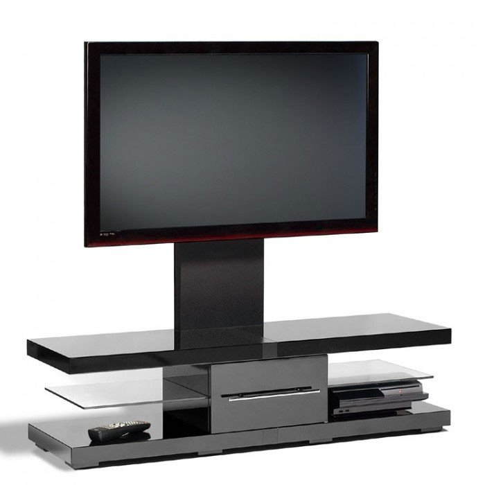 Trendy Techlink Echo Ec130Tvb Tv Stand Within Techlink Ec130Tvb Echo Tv Piano Gloss Black Cantilever Tv Stand (405709) (Image 25 of 25)