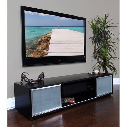 Trendy Valencia 60 Inch Tv Stands In Plateau Sr 75 Inch Black Oak Tv Stand Silver Frame Door Sr V 75 (Bb (View 24 of 25)