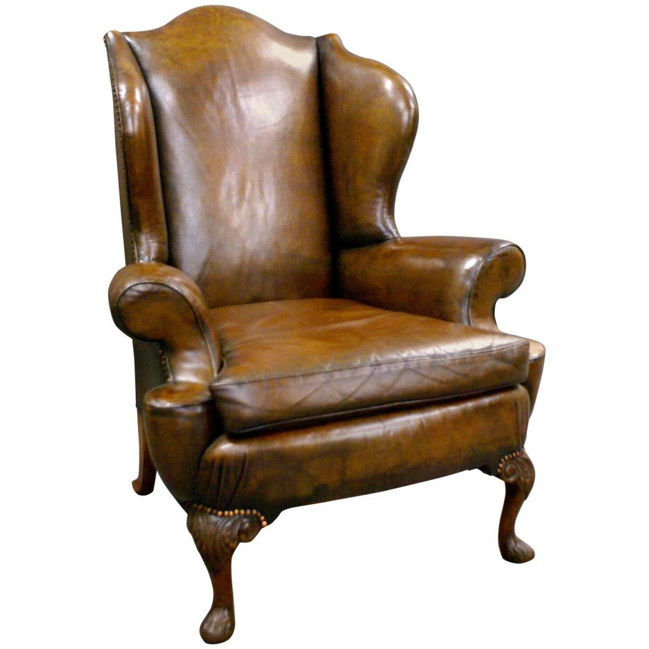 Tufted Leather Chair Winged Armchairs For Sale Upholstered Swivel Regarding Chocolate Brown Leather Tufted Swivel Chairs (View 8 of 25)