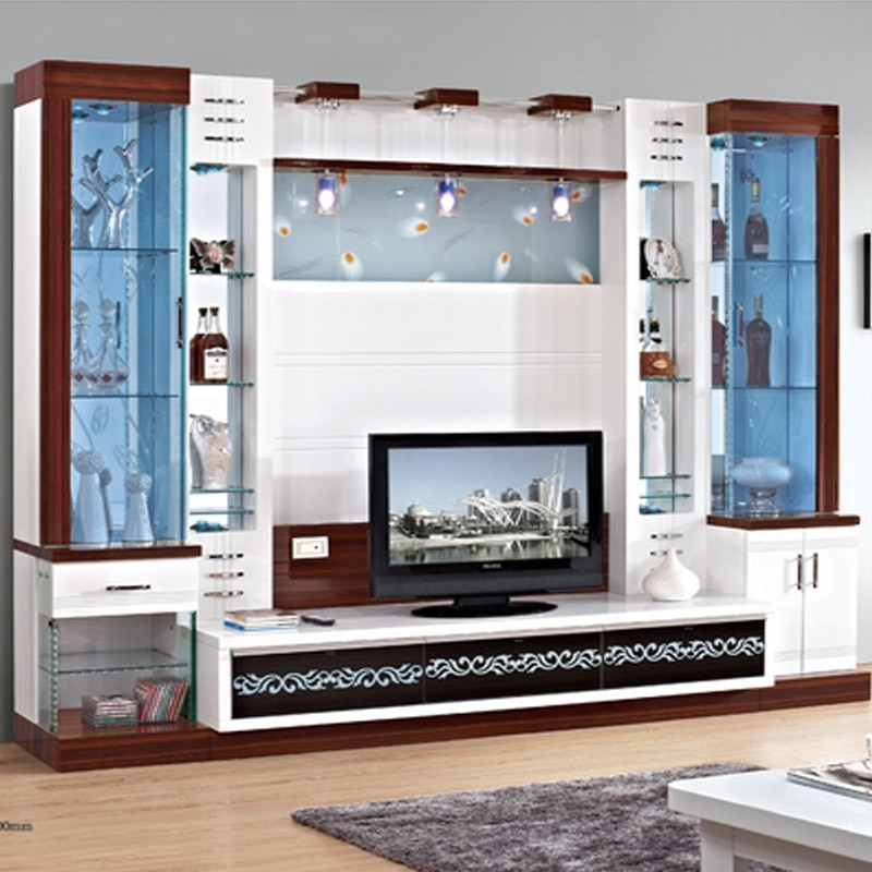 Tv Cabinet Cover Tv Cabinet Modern Brief Fashion Glass Cabinet  Office Wine Cooler Display Cabinet Tv Wall Unit In Tv Stands From Furniture In Most Popular Modern Design Tv Cabinets (Image 19 of 25)