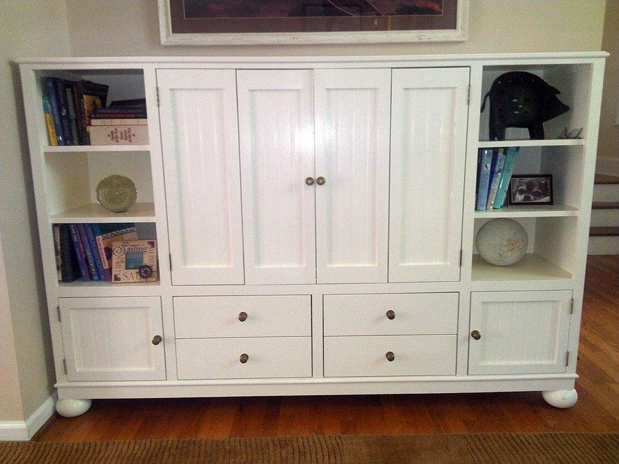 Tv Cabinet With Doors For Flat Screen Brown Wooden Tv Stand With Inside Current Enclosed Tv Cabinets With Doors (Photo 24 of 25)