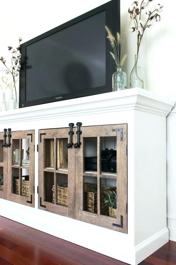 Tv Console Decor Oak Brass Stacking Media Console Tv Table Stand Intended For Best And Newest Oak & Brass Stacking Media Console Tables (View 21 of 25)
