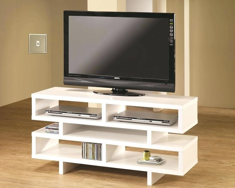 Tv Console Decor Oak Brass Stacking Media Console Tv Table Stand with regard to Most Recent Oak & Brass Stacking Media Console Tables