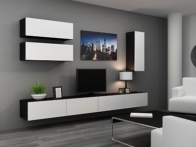 Tv For Latest Black Gloss Tv Wall Unit (View 6 of 25)