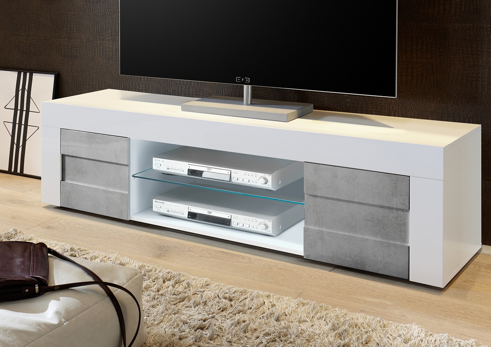 Tv & Media Units With Widely Used Gloss White Tv Cabinets (Image 18 of 25)