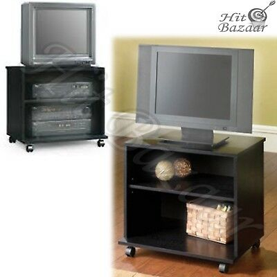 Tv Stand Portable Mobile Cart Rolling Entertainment Center Small Regarding 2018 Small Tv Stands On Wheels (View 10 of 25)