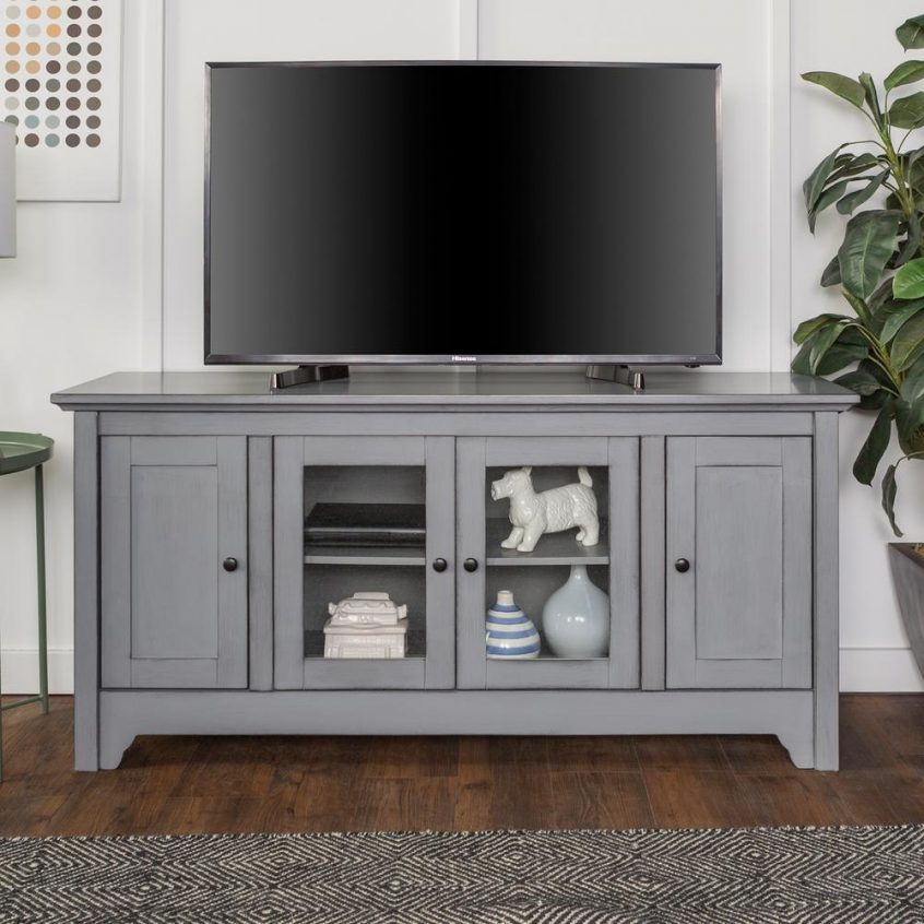 Tv Stands And Entertainment Centers : Tv Stand Furniture Black Tv With Well Known Black Tv Cabinets With Drawers (Image 21 of 25)