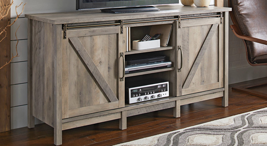 Tv Stands With Glass Doors Extraordinary Amazon Com Winsome Wood Tv In Recent Sideboard Tv Stands (Image 23 of 25)