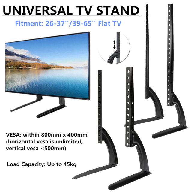 Universal Table Top Tv Stand Legs For Most Led Lcd Plasma Flat For Recent Universal Flat Screen Tv Stands (Photo 6 of 25)