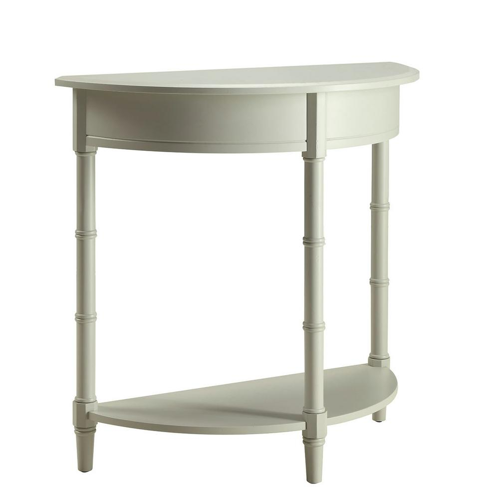 Usl Allie London Grey Console Table Sk18795A Lg – The Home Depot Pertaining To Allie Dark Grey Sofa Chairs (Photo 9 of 25)