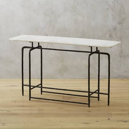 Val Note: Inspiration For A Skinny Marble Table That Would Be The For Most Recent Ventana Display Console Tables (Image 15 of 25)
