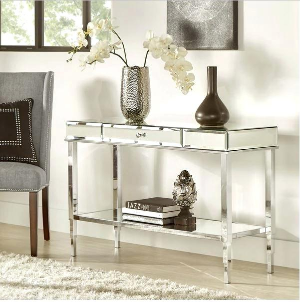 Ventana Console Table Mirrored Console Table Sofa Accent Vanity With Regard To Recent Ventana Display Console Tables (Photo 9 of 25)