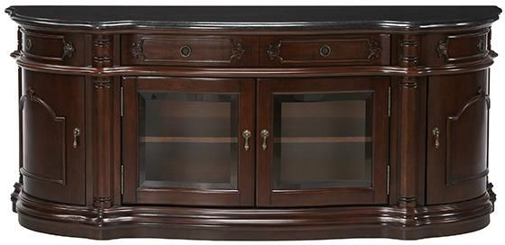 Versailles Widescreen Tv Cabinet With Glass Doors From Home In Most Current Tv Cabinets With Glass Doors (Photo 6 of 25)