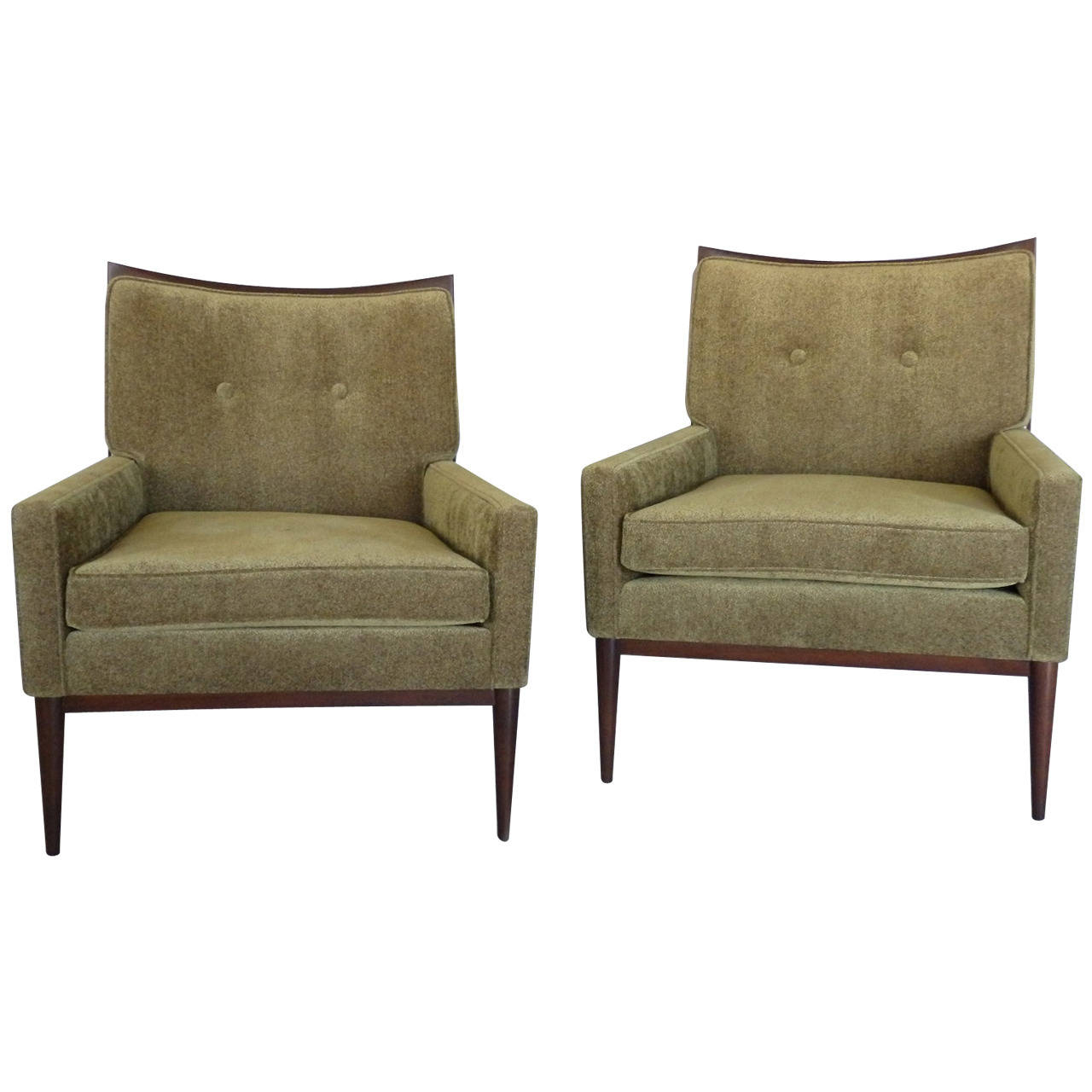 Via: 1Stdibs With Bailey Linen Flare Arm Wing Skirted Swivel Gliders (Image 25 of 25)