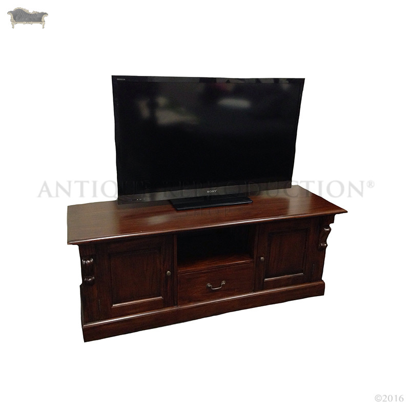 Victorian Style Tv Stand Mahogany - Antique Reproduction Shop within 2018 Mahogany Tv Stands