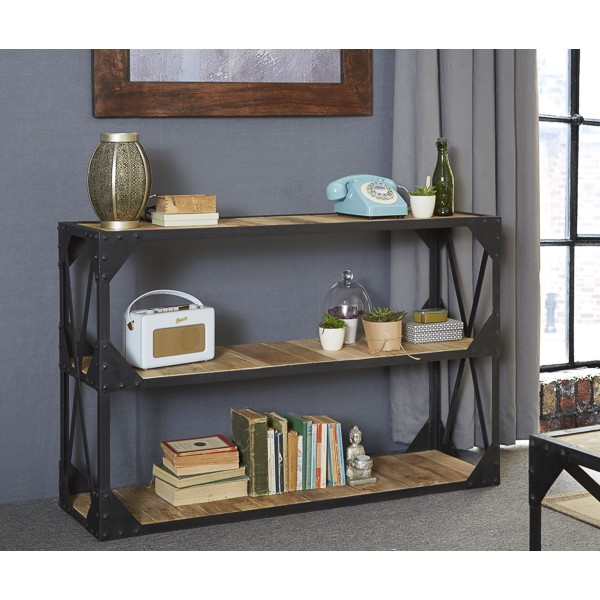 Vintage Industrial Metal And Wood Tv Stand Console Table within Most Recently Released Reclaimed Wood and Metal Tv Stands