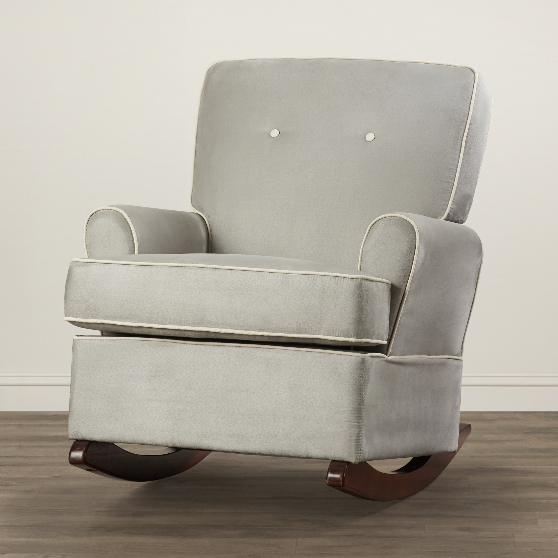 Viv + Rae Shaylee Rocker & Reviews | Wayfair Pertaining To Bailey Roll Arm Skirted Swivel Gliders (Image 25 of 25)