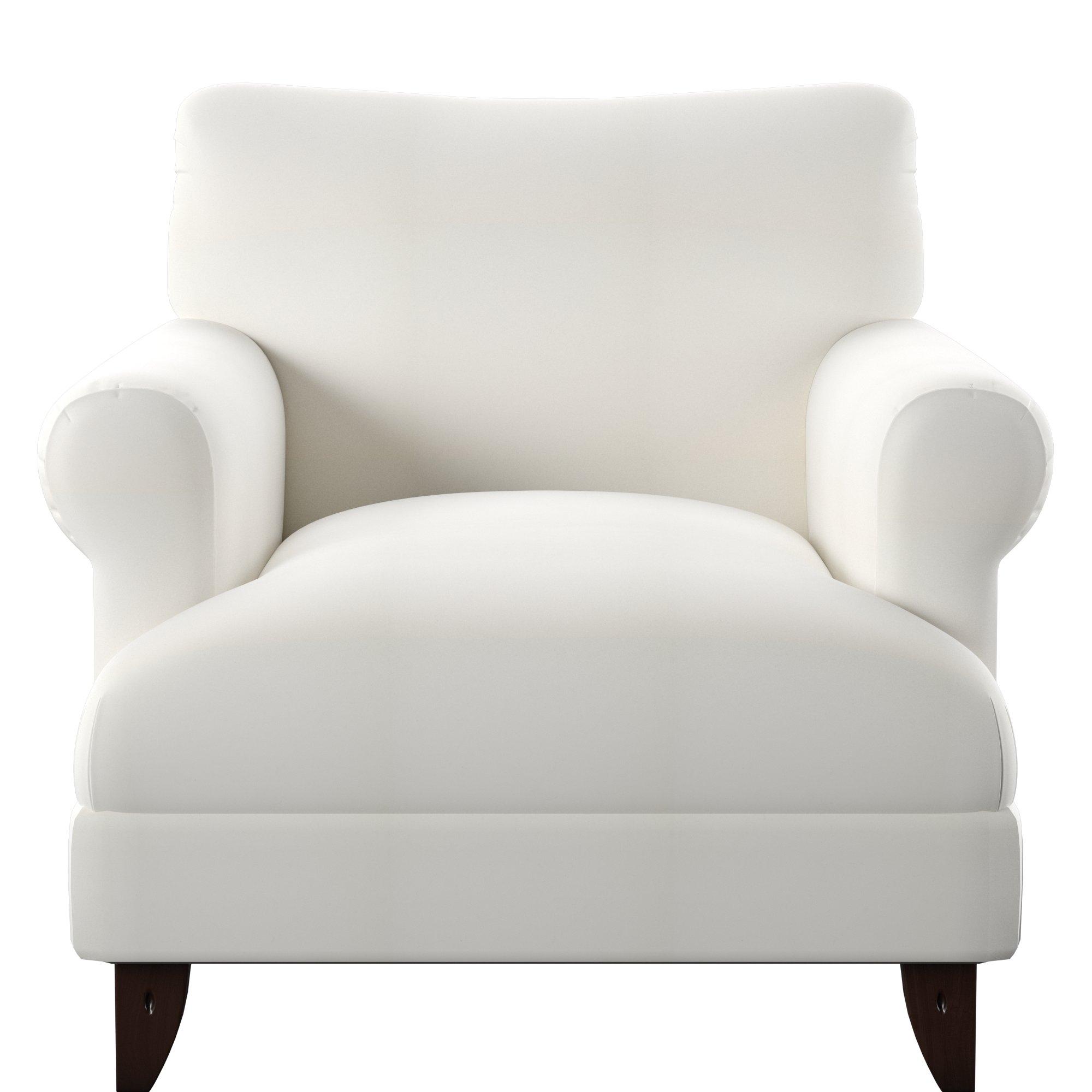 Wayfair Custom Upholstery™ Allie Armchair & Reviews | Wayfair With Allie Dark Grey Sofa Chairs (Image 25 of 25)