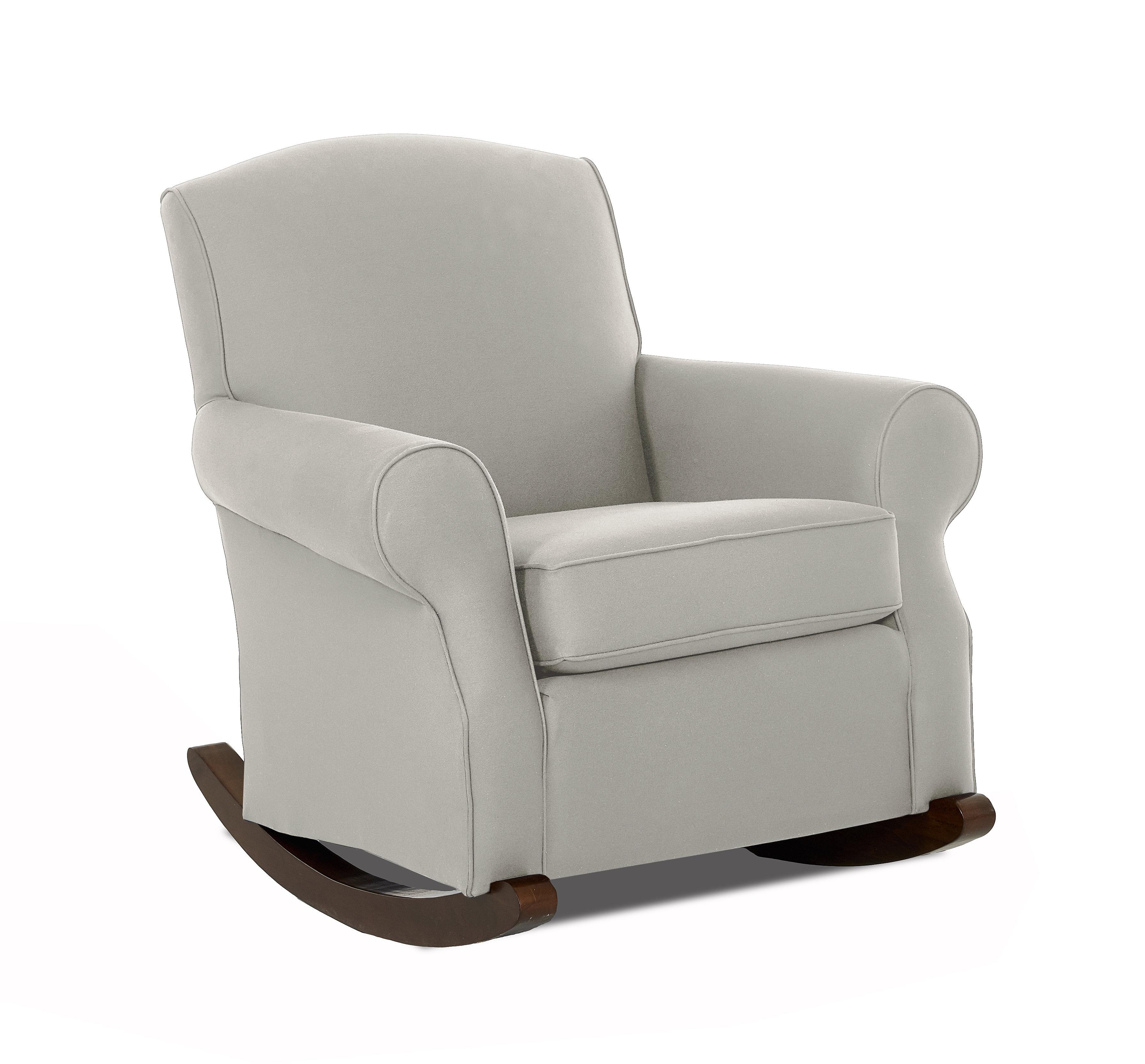 Wayfair Custom Upholstery™ Marlowe Rocking Chair | Wayfair Pertaining To Katrina Grey Swivel Glider Chairs (View 3 of 25)