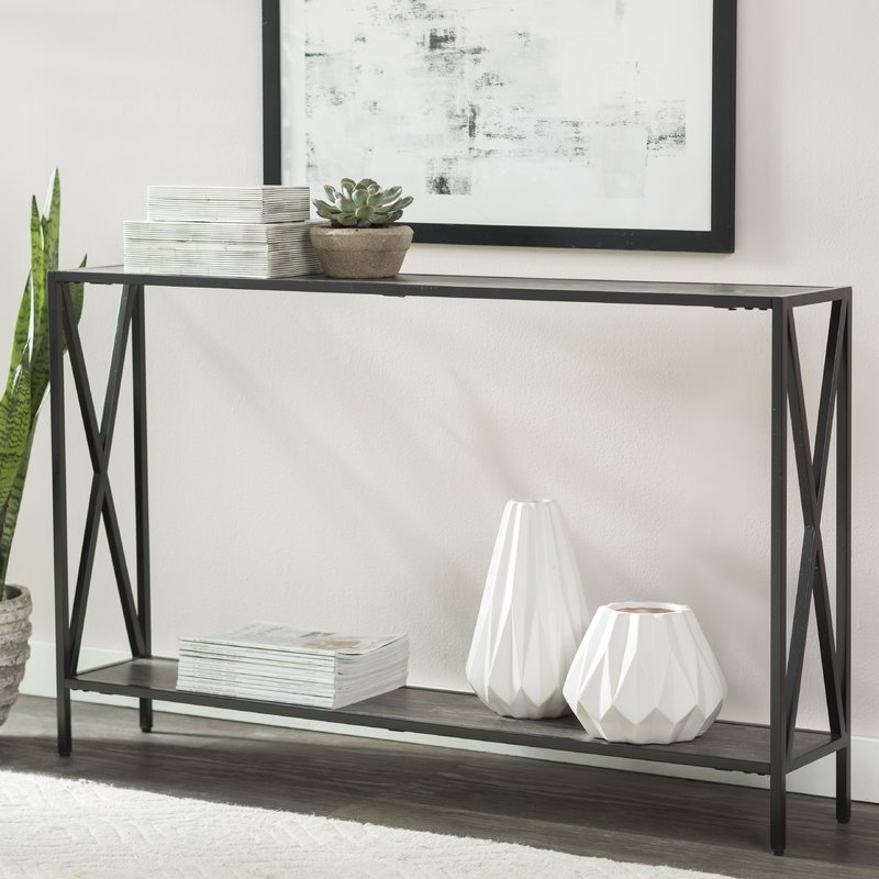 Wayfair For 2018 Frame Console Tables (View 21 of 25)