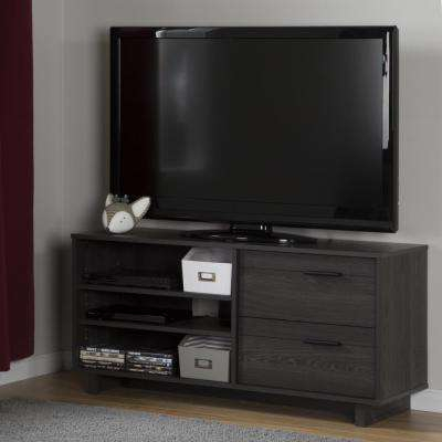Well Known Abbott Driftwood 60 Inch Tv Stands With Gray – Tv Stands – Living Room Furniture – The Home Depot (View 10 of 25)