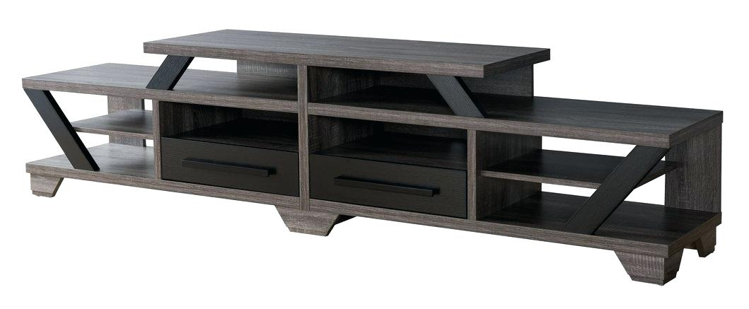 Well Known Bale Rustic Grey 82 Inch Tv Stands With Blackwelder 82 Tv Stand Stands The Home Depot P – Probanki (View 4 of 25)