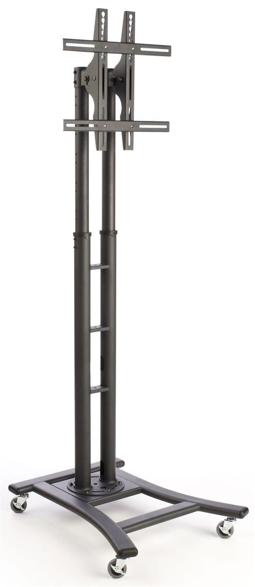"""Well Known Caden 63 Inch Tv Stands Pertaining To Tv Stand With Wheels, Fits Monitors 37"""" To 65"""", Height Adjustable (Image 24 of 25)"""