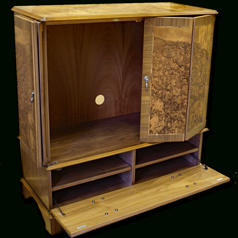 Well Known Enclosed Tv Cabinets With Doors With Regard To Enclosed Reproduction Tv Cabinet In Yew,mahogany,oak And Bespoke (View 1 of 25)